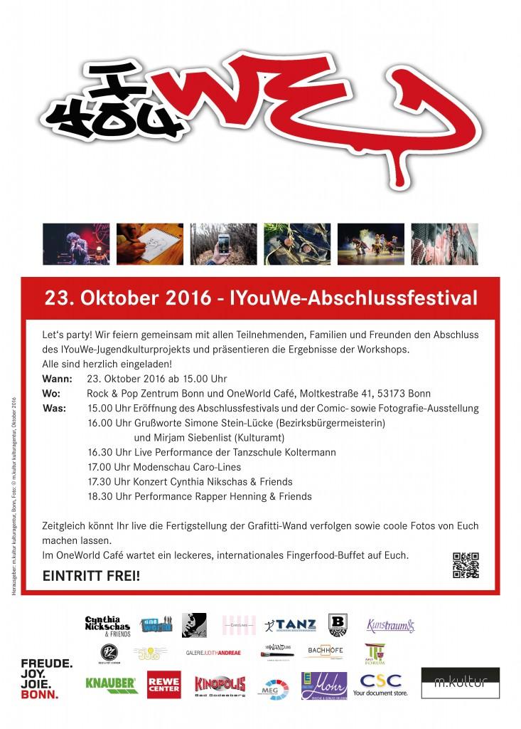IYouWe 2016 Jugendkulturprojekt Abschlussfestival