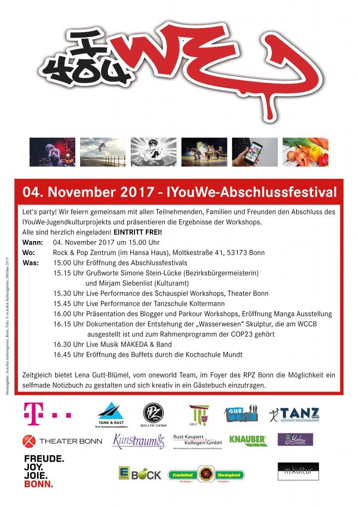 Plakat Abschlussfestival 2017