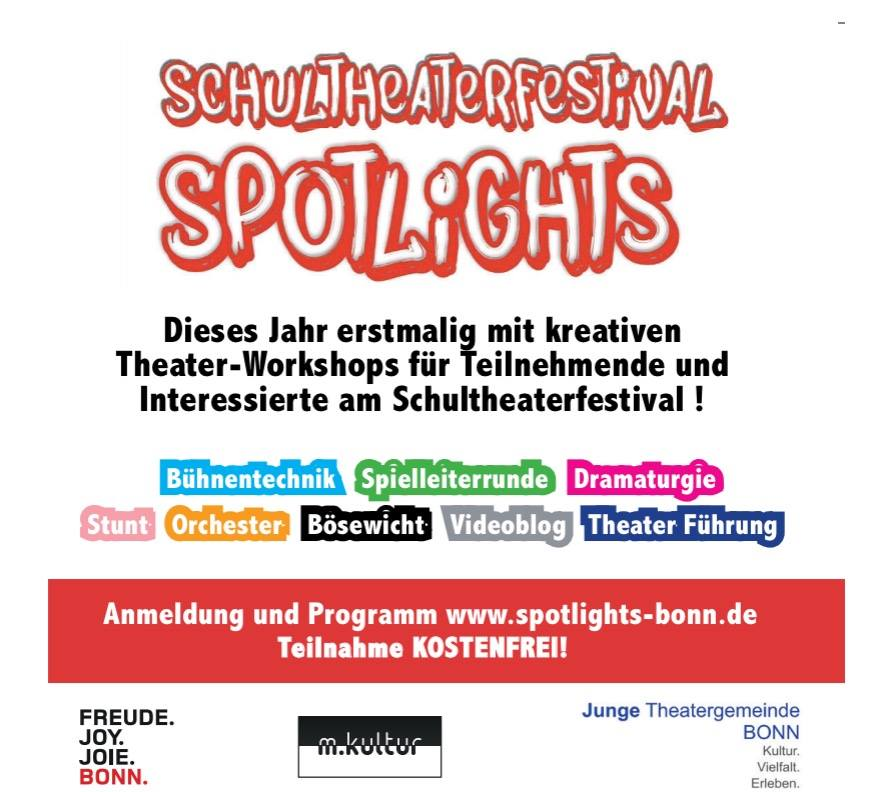 spotlights schultheaterfestival workshops